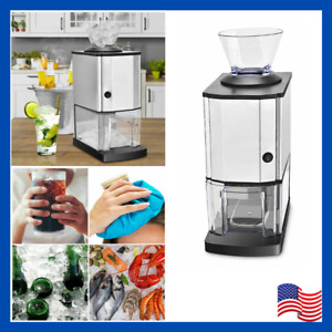 Tabletop Electric Stainless Steel Ice Crusher Shaver Machine Crushed Appliance