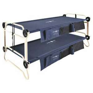 Disc-O-Bed XL Cam-O-Bunk Bunked Organizers Double Camping Cot Navy Blue (Used)