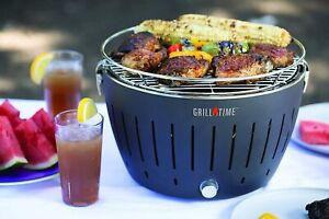 Grill Time Tailgater GT Charcoal Grill w carrying case & starter pack 4 colors