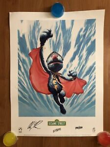 Alex Ross Super Grover Litograph Print Signed amp; Numbered 172 250 Palisades $124.99