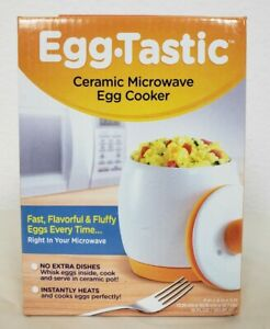 NEW Egg Tastic Ceramic Microwave Egg Cooker Poached Fast Breakfast As Seen On TV