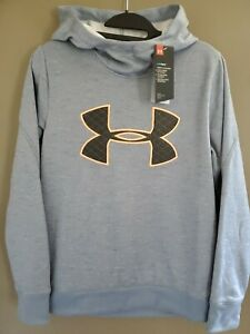 Under Armour Hoodie Sweatshirt Womens Size Small Logo Loose Cold Gear NEW $15.00