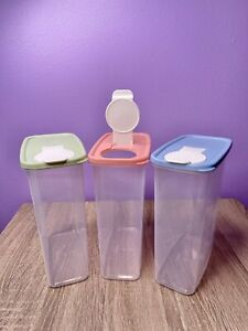 1PC Kitchen Half Flip Food Storage Box Airtight Plastic Containers Sealed Can