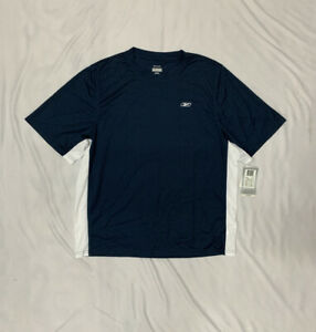 Reebok Mens Dry Fit Shirt Blue Size XL Short Sleeve NWT $15.30