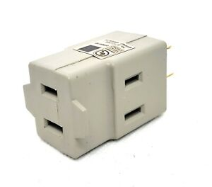 3-Way 2 Prong Cube Outlet Adapter UL Listed