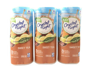 CRYSTAL LIGHT SWEET TEA Powdered DRINK MIX 2 Cans, 6 Pitcher Packs ea. FREE Ship