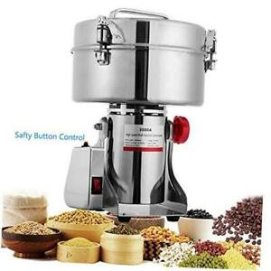 BI-DTOOL 3000g Electric Grain Mills Grinder 304 Stainless Steel Commercial Spice