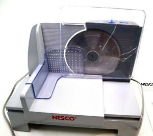 Nesco Electric Food Slicer w Tilt Tray FS 120T 6 5 8quot; Blade Slice meat cheese