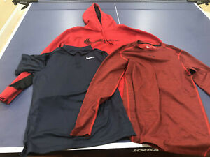 NIKE & UNDER ARMOUR LOT OF 3: HOODIE, POLO & T SHIRT GREAT COND MEN & BOYS SIZES $24.95