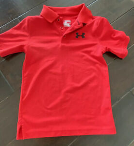 Under Armour UA Youth Boys XS 5 Red Polo Golf Shirt EUC $18.99