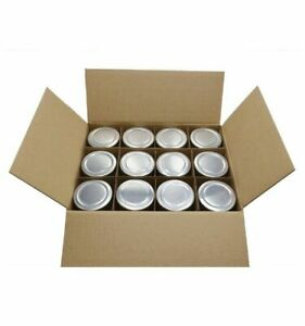 U-Pack 12 Pieces 5oz Glass Spice Jars With Silver Metal  Lids For Kitchen Use