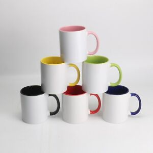 Ceramic 11oz Sublimation Mug in Varied Colors