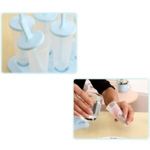 Set of 6 Popsicle Molds Ice Pop Makers Ice Pop Ice Bar Maker Plastic Popsicle