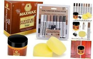 MaxWax Beeswax Furniture Polish Kit With Beeswax, Scratch Repair Touch Up Marker