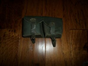 WWII ITALIAN CARCANO LEATHER RIFLE AMMO AMMUNITION POUCH CARTRIDGE M1891 M1938