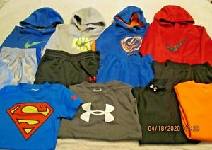 Boys Size XS S Under Armour Nike Hoodies Shirts Shorts Sets Lot $95.97