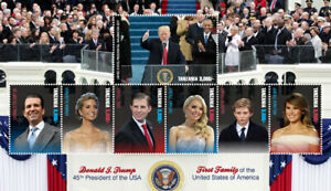 Tanzania 2017 PRESIDENT TRUMP amp; FIRST FAMILY OF THE USA SHEET OF 7 MNH