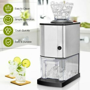NEW Stainless Steel Electric Ice Crusher Machine Shaver Crushed Ice Maker