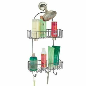 mDesign Metal Bathroom Tub & Shower Caddy, Hanging Storage Organizer