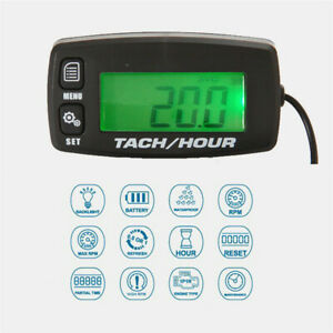 Motorcycle Backlight Digital Inductive Tach Hour Meter Tachometer LCD Resettable $25.94