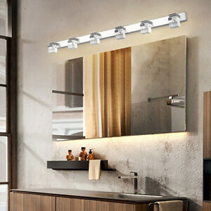LED Bathroom Mirror Front Light Wall Lighting Modern Bathroom Crystal Wall Lamp