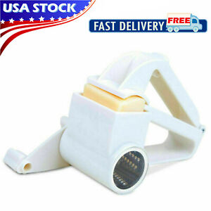 Cheese Grater Hand Crank Rotary Vegetable Grinder Kitchen Cutter Slicer Tool New