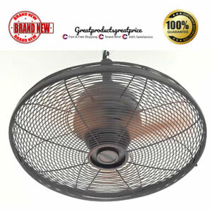 Ceiling Fan Oil Rubbed Bronze Indoor Outdoor 3 Blade Greenhouse Patio Porch Cool $119.49