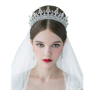Princess Bridal Rhinestone Crystal Wedding Hair Tiara Crown Prom Headband $10.99