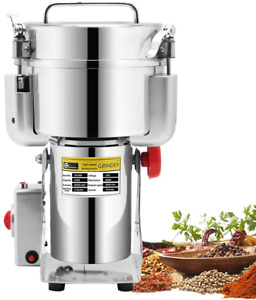 Cgoldenwall 2000G Commercial Electric Stainless Steel Grain Grinder Mill Spice H