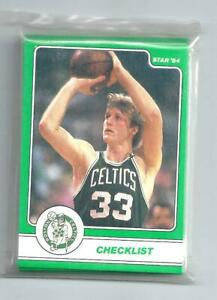 1984 Star Boston Celtics team complete Sealed Bag Set 18 featuring Larry Bird