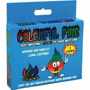 Colorful Fire 3 pack Box Magical Flames Color Campfire Fireplace Colorant