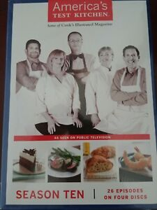 AMERICA#x27;S TEST KITCHEN Season Ten Four CD PBS TV Cooks Illustrated 50 Recipes