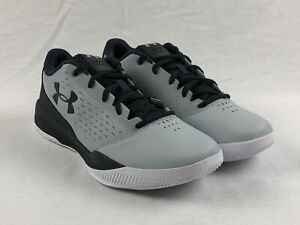NEW Under Armour Jet Low Gray Black Basketball Shoes Men's 9 $56.99