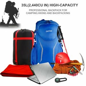 35L Foldable Outdoor Travel Backpack Women Men Hiking Sports Camping Bags US NEW