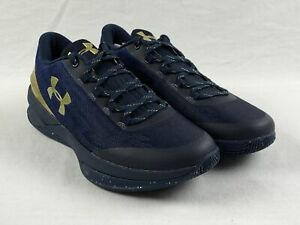 NEW Under Armour Charged Controller Navy Gold Basketball Shoes Men's 9 $104.49