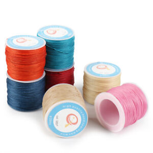 87Yard 0.6mm Waxed Sewing Thread String Round Cord for Leather Stitching Crafts $5.69