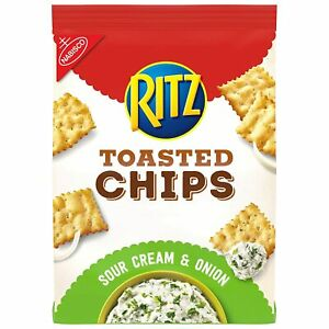 Nabisco Ritz Toasted Sour Cream Onion Oven Baked Chips 8.1 oz