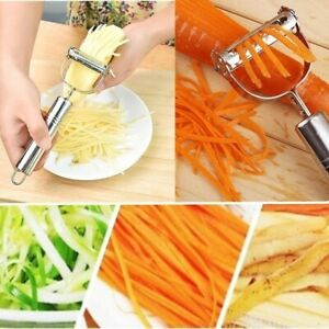 Potato Cucumber Carrot Grater Vegetables Fruit Peeler Double Planing Grater
