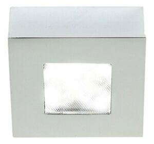 WAC Lighting HR-LED87S-27-CH 3000K Soft White Square LED Button Light, Chrome