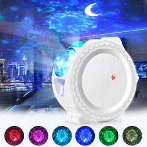 3in1 LED Star Projector Night Light 6 Colors Ocean Wave Galaxy Projection Lamp