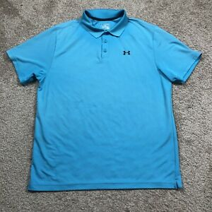 Under Armour MEN'S Golf Polo Loose Heat Gear Blue Size 2XL $19.87