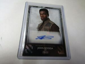 JOHN BOYEGA, as FINN The RISE of SKYWALKER SERIES 2 SILVER AUTOGRAPH s n 03 25