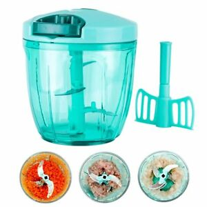 Manual Fruit Vegetable Onion Garlic Cutter Food Speedy Chopper Stainless Blades