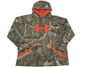 Under Armour Boys Youth XL Camo Storm Loose Hoodie Camouflage YXL P2 $26.52