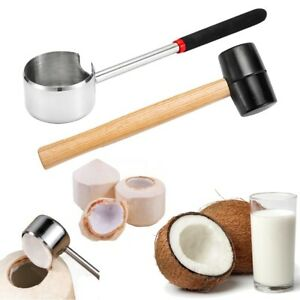 2Pcs Coconut Opener Portable Opening Tool Coconut Opening Supplies for Home Shop