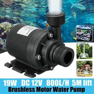 DC 12V 800L H 5M Lift Mini Brushless Motor Ultra quiet Submersible Water Pump