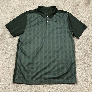 Nike Golf Dri Fit Green Athletic Polo Shirt Mens Size Large $22.87