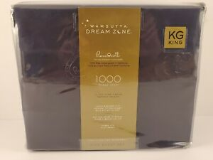 Wamsutta® Dream Zone 1000 TC PimaCott KING Sheet Set Navy NWT