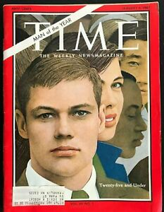 TIME MAGAZINE January 6 1967 MAN PERSON OF THE YEAR 25 amp; Under Youth $11.99