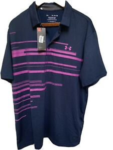 New UNDER ARMOUR GOLF POLO SHIRT XXL Very sharp looking, with tag $75 retails $34.00